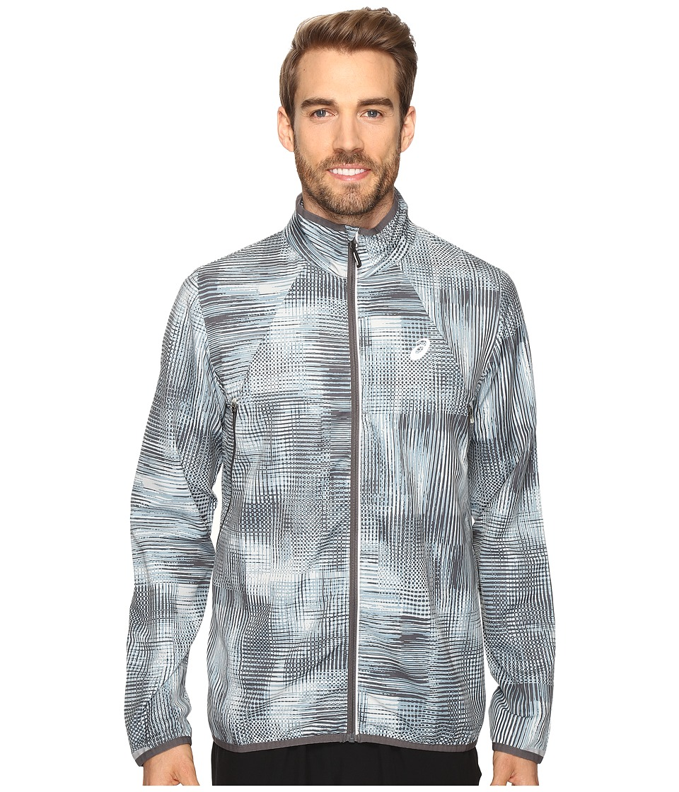 ASICS - Lightweight Woven Jacket (Grey Linear Blur) Men's Coat
