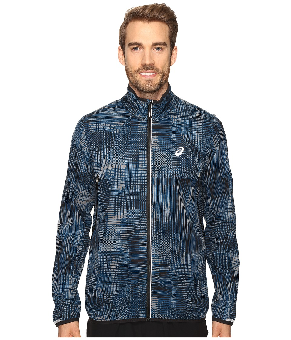 ASICS - Lightweight Woven Jacket (Poseidon Linear Blur) Men's Coat