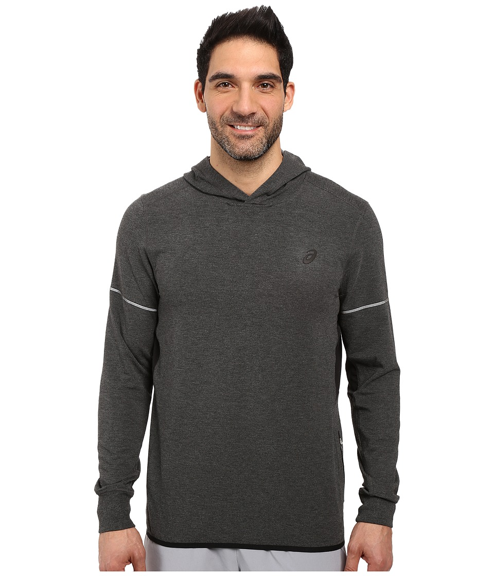 ASICS - Lightweight Fleece Hoodie (Black Heather) Men's Sweatshirt