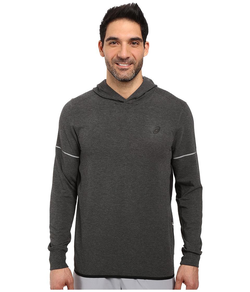 ASICS - Lightweight Fleece Hoodie (Black Heather) Men's Sweatshirt