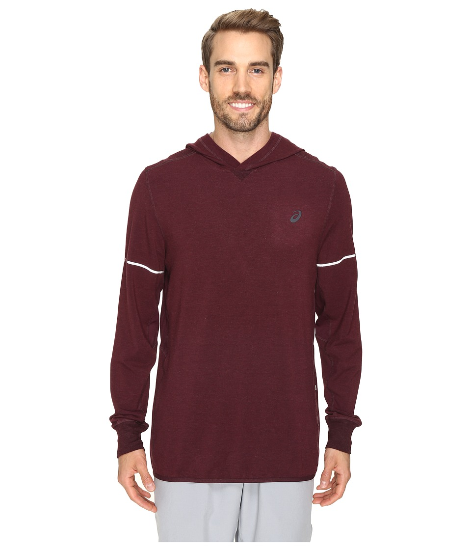 ASICS - Lightweight Fleece Hoodie (Rioja Red Heather) Men's Sweatshirt