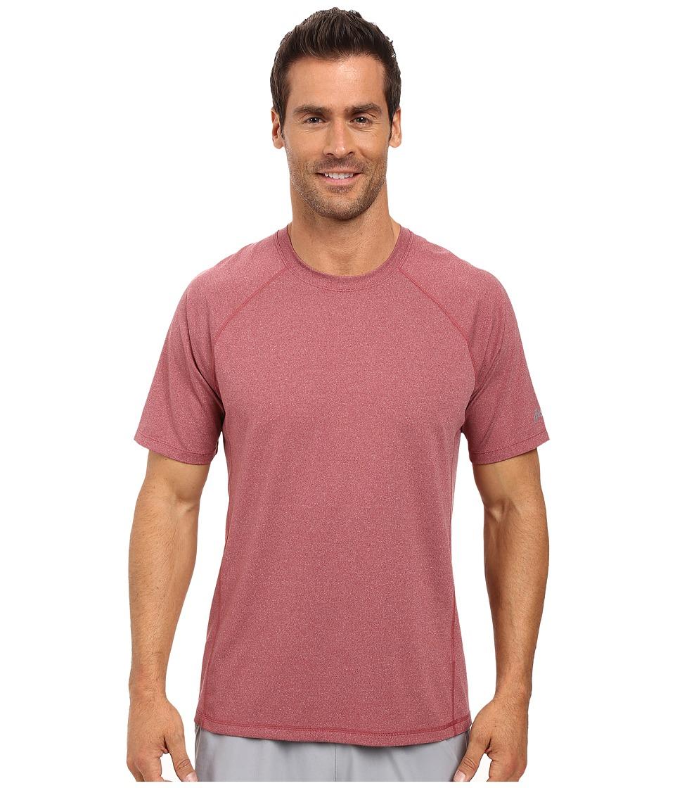 ASICS - Everyday Short Sleeve Shirt (Pomegranate Heather) Men's Short Sleeve Pullover