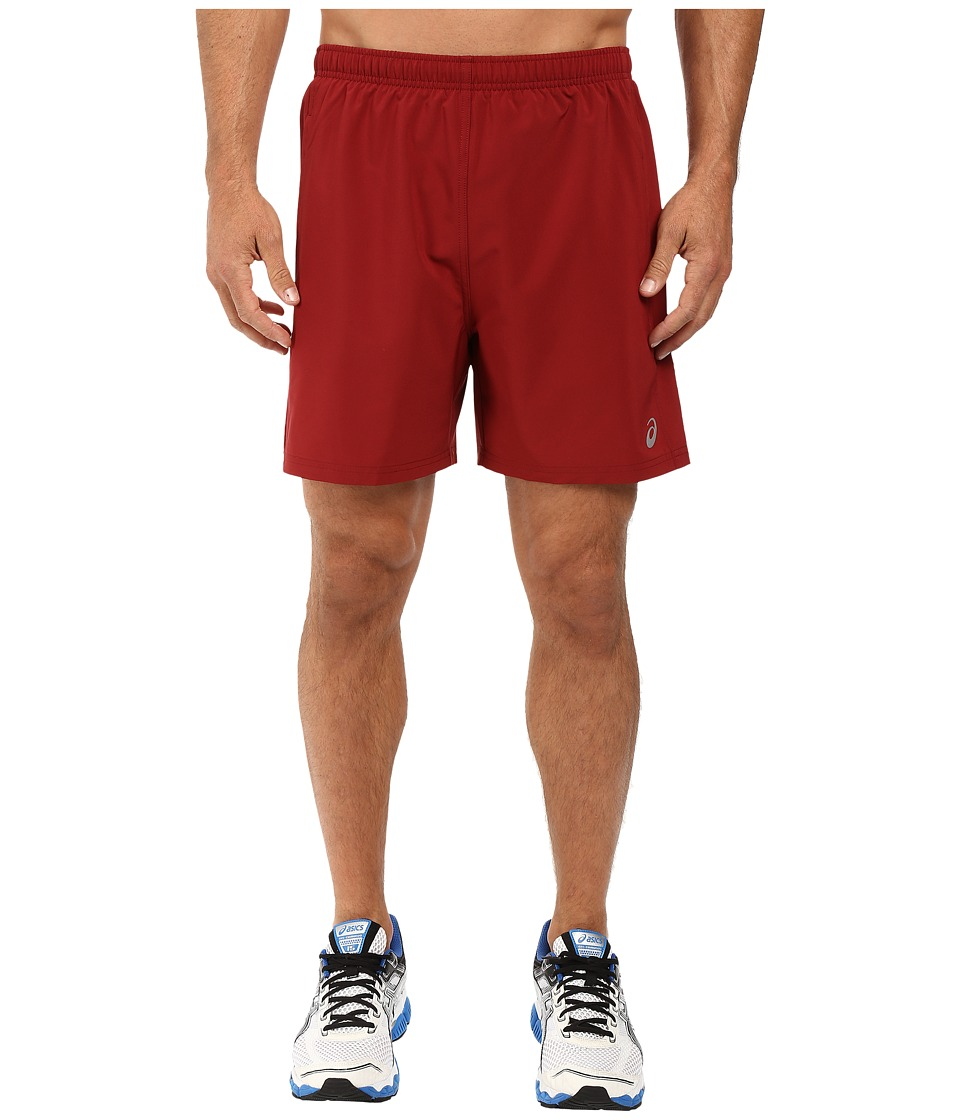 ASICS - 2-N-1 Woven 6 Shorts (Pomegranate) Men's Shorts