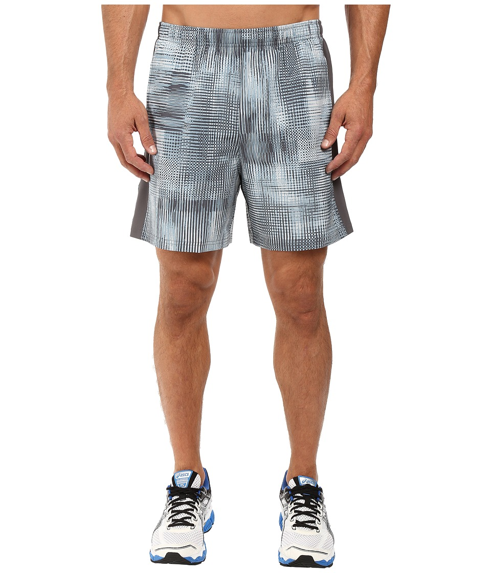 ASICS - 2-N-1 Woven 6 Shorts (Grey Linear Blur) Men's Shorts