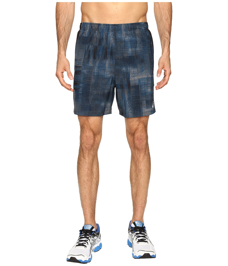 ASICS - 2-N-1 Woven 6 Shorts (Poseidon Linear Blur) Men's Shorts