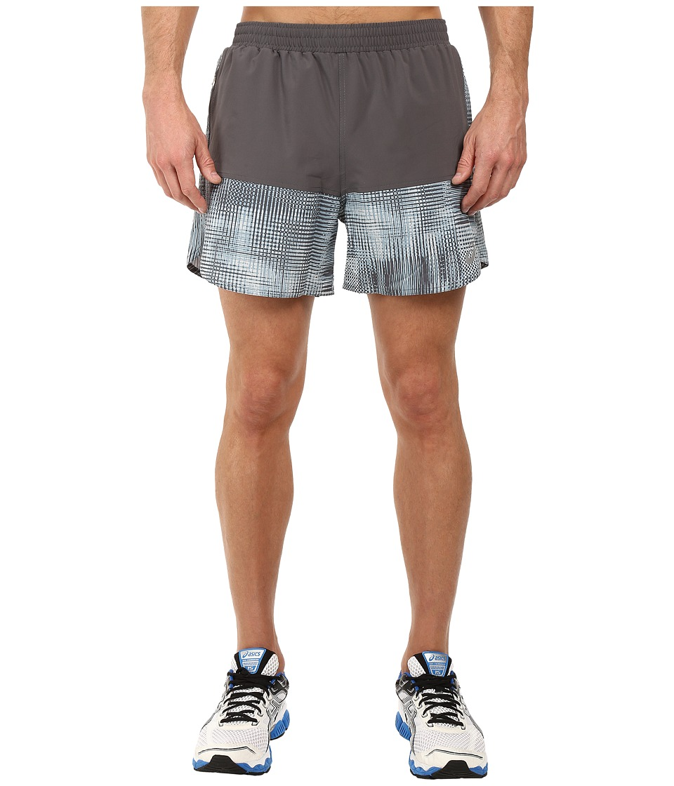ASICS - Everyday 5 Shorts (Grey Linear Blur) Men's Shorts