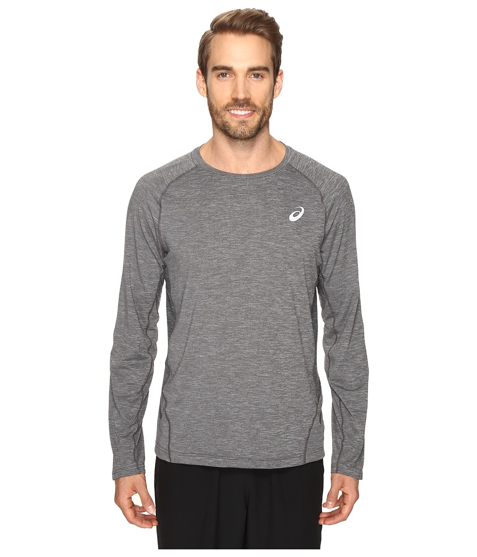 ASICS - Mesh Long Sleeve Crew (Performance Black) Men's Clothing