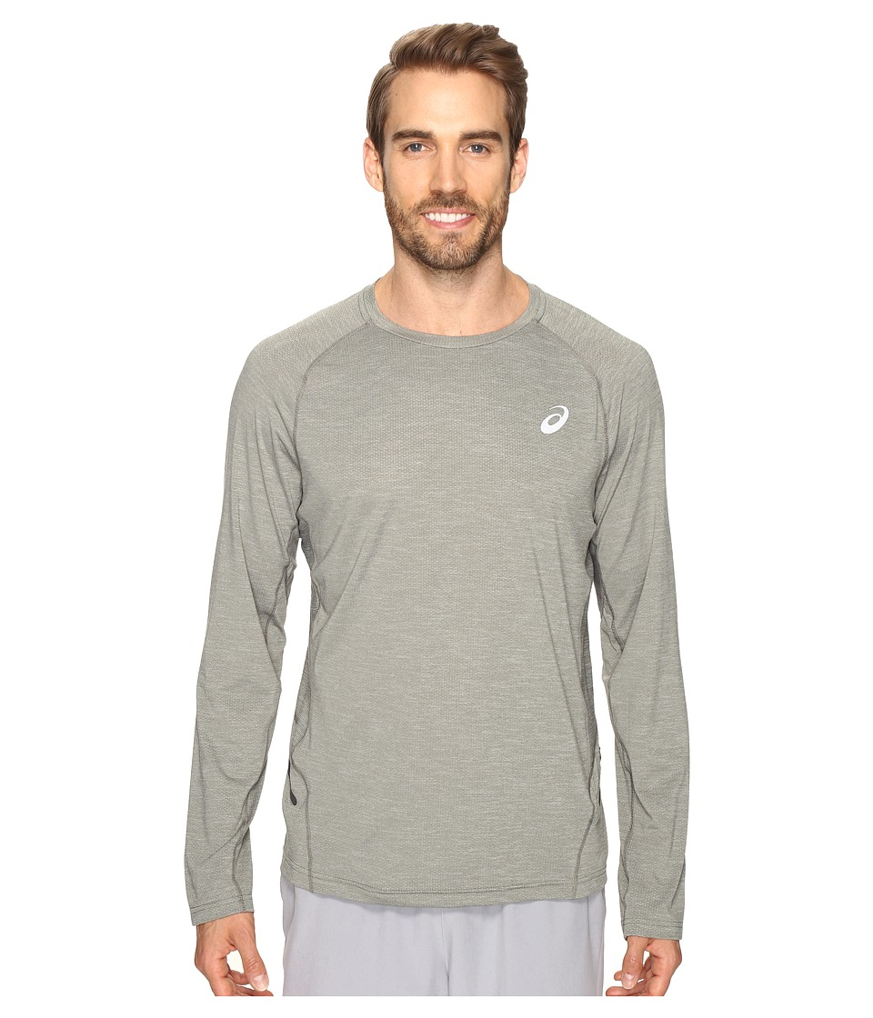 ASICS - Mesh Long Sleeve Crew (Eucalyptus) Men's Clothing