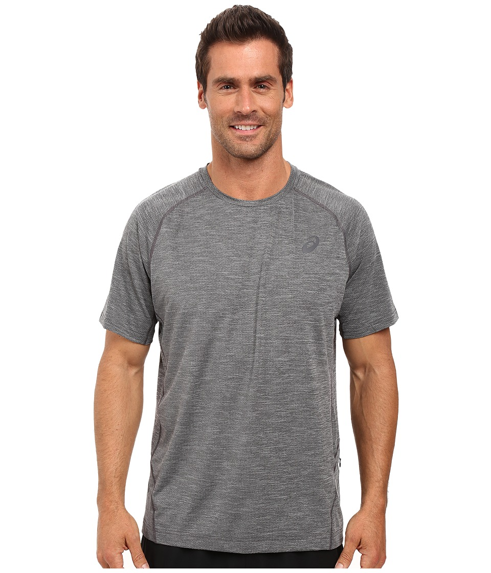 ASICS - Mesh Short Sleeve Crew (Performance Black) Men's Clothing
