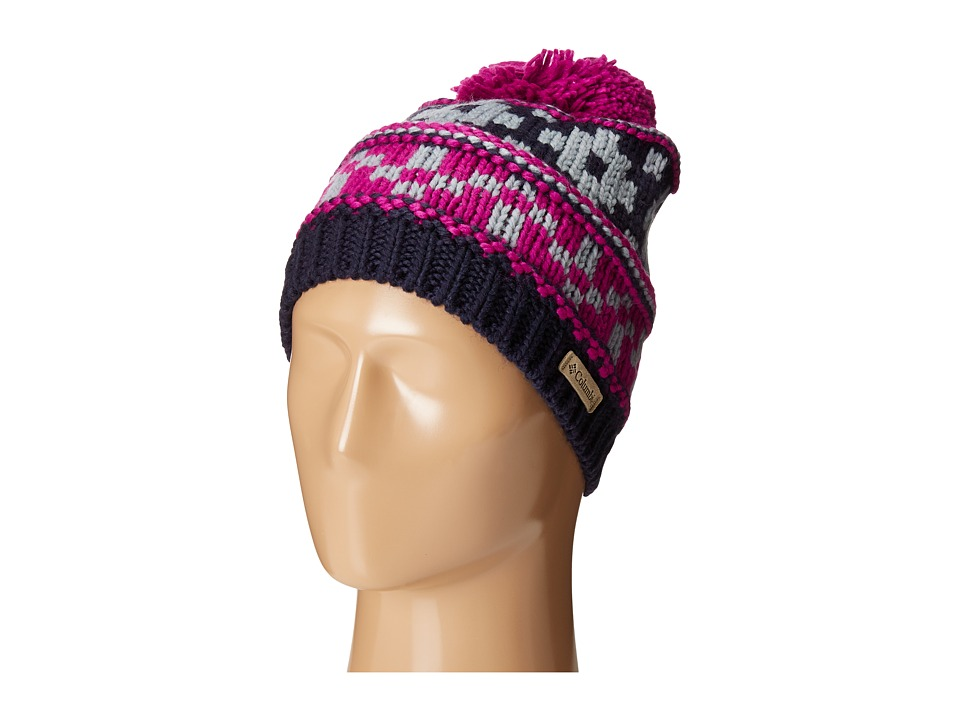 Columbia - Alpine Vista Beanie (Bright Plum/Ebony Blue) Beanies