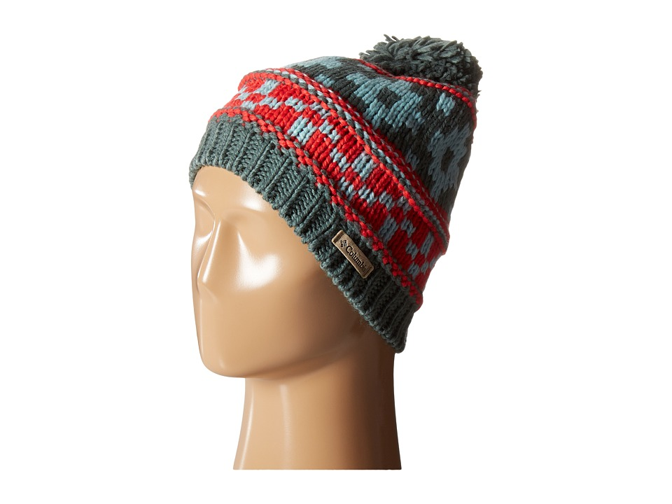 Columbia - Alpine Vista Beanie (Pond/Red Camellia) Beanies