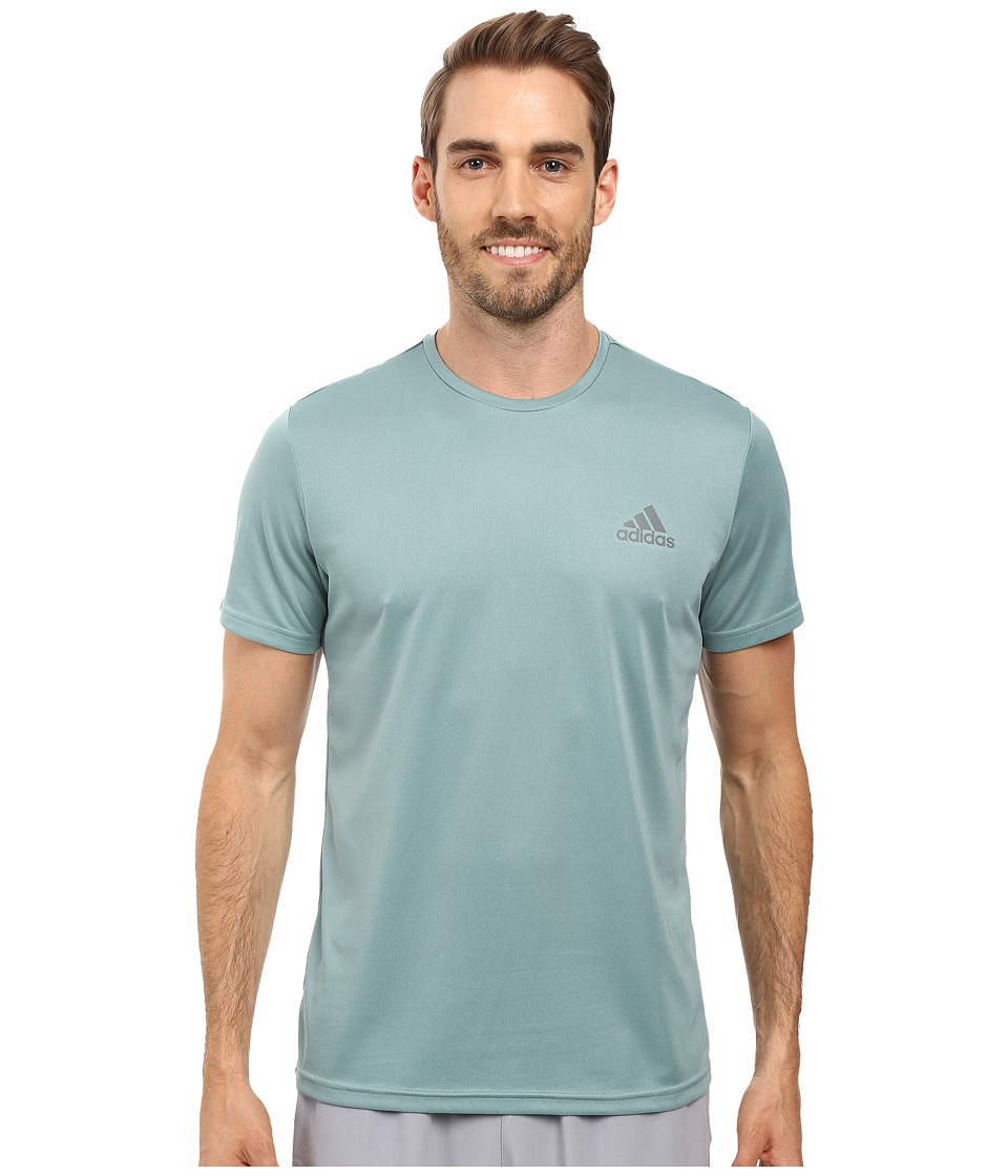 adidas - Essential Tech Crew Tee (Vapour Steel/Vista Grey) Men's T Shirt