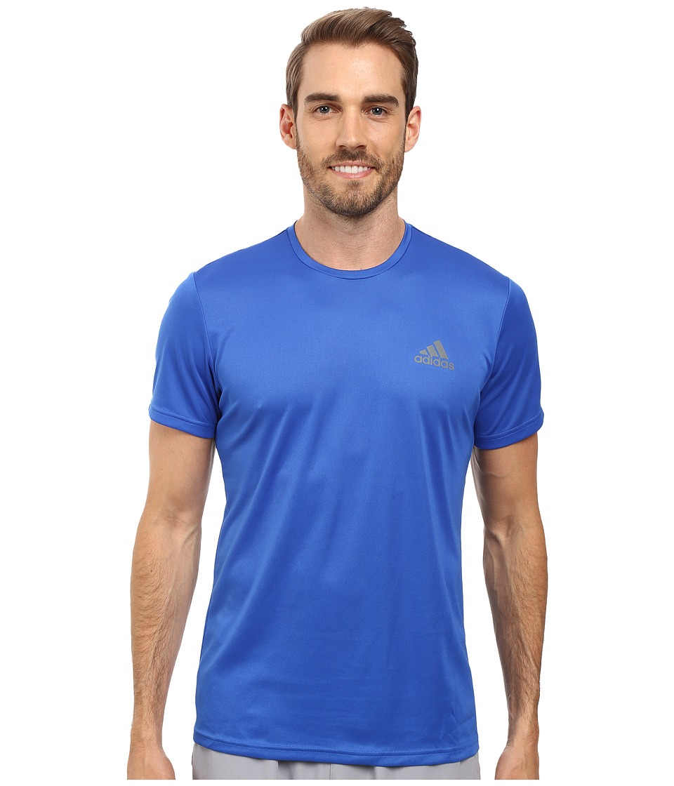adidas - Essential Tech Crew Tee (Blue/Vista Grey) Men's T Shirt