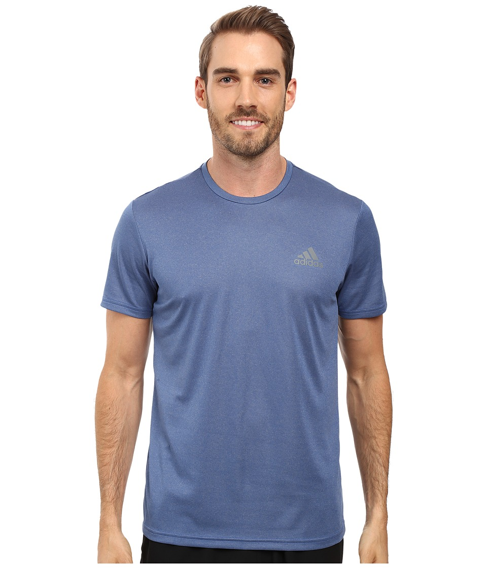 adidas - Essential Tech Crew Tee (Collegiate Royal Heather/Vista Grey) Men's T Shirt