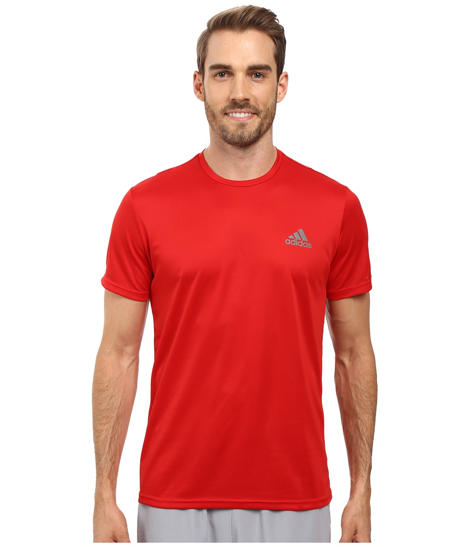 adidas Essential Tech Crew Tee (Scarlet/Vista Grey) Men