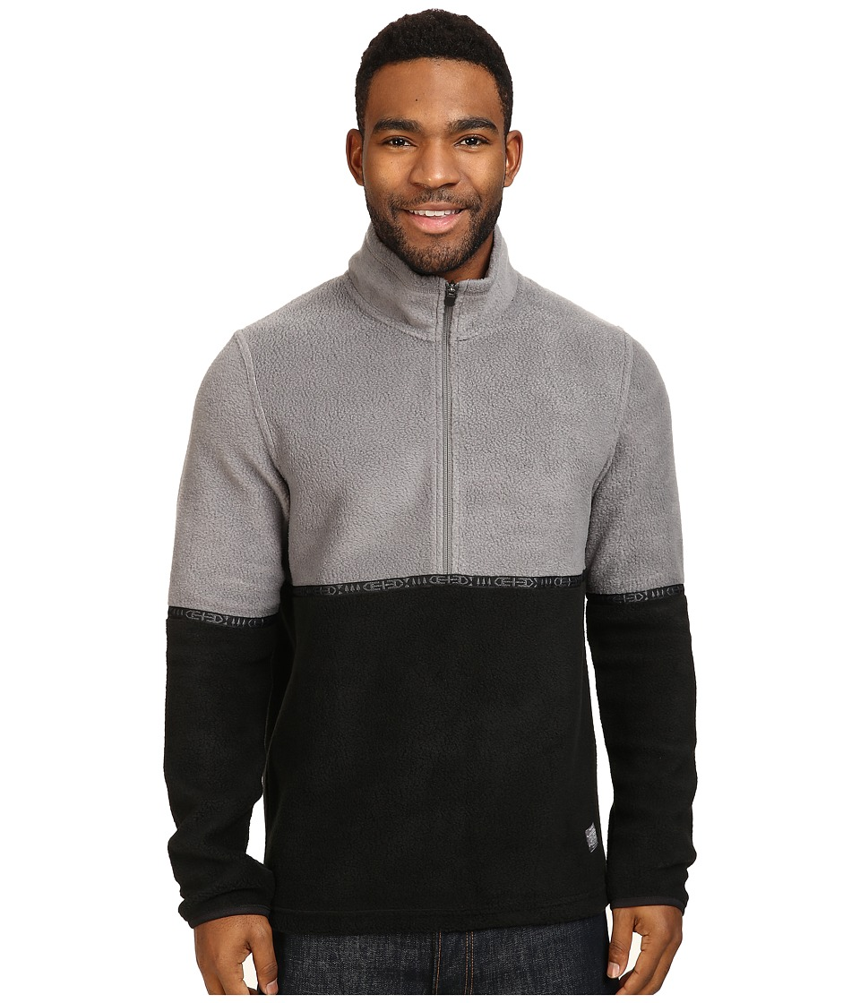 Toad&Co - Ajax Fleece Pullover (Smoke/Black) Men's Long Sleeve Pullover