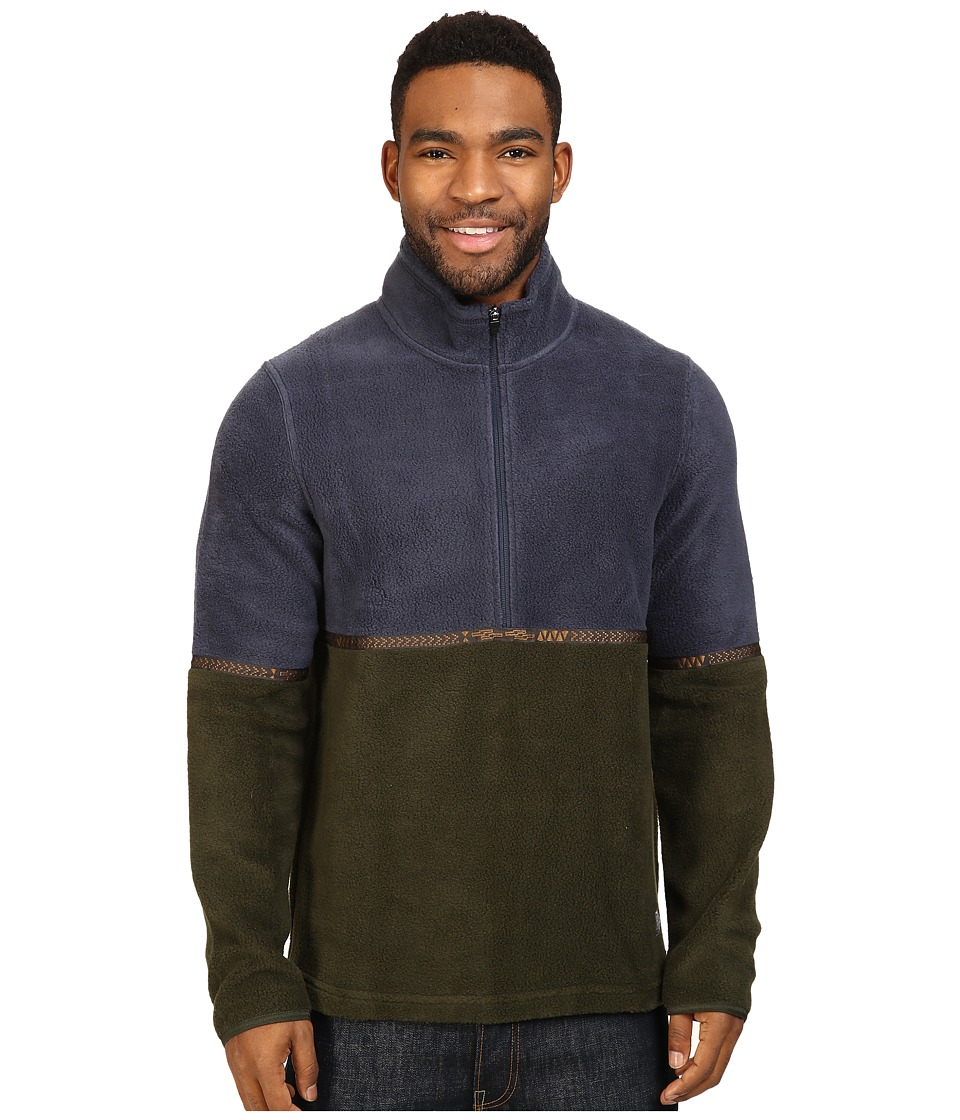 Toad&Co - Ajax Fleece Pullover (Nightsky/Rosin) Men's Long Sleeve Pullover