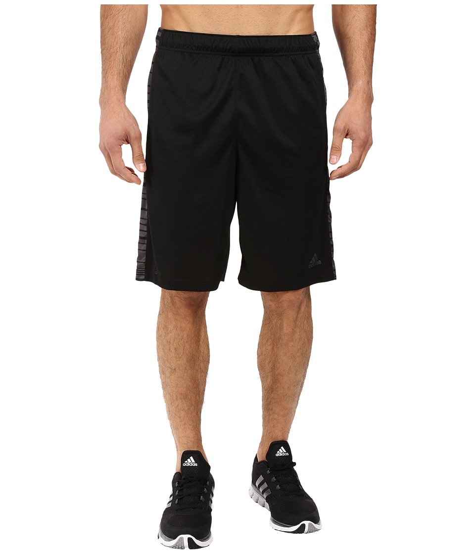 adidas - Essential 3-Stripes Shorts - Sport Glitch (Black/DGH Solid Grey/Black) Men's Shorts
