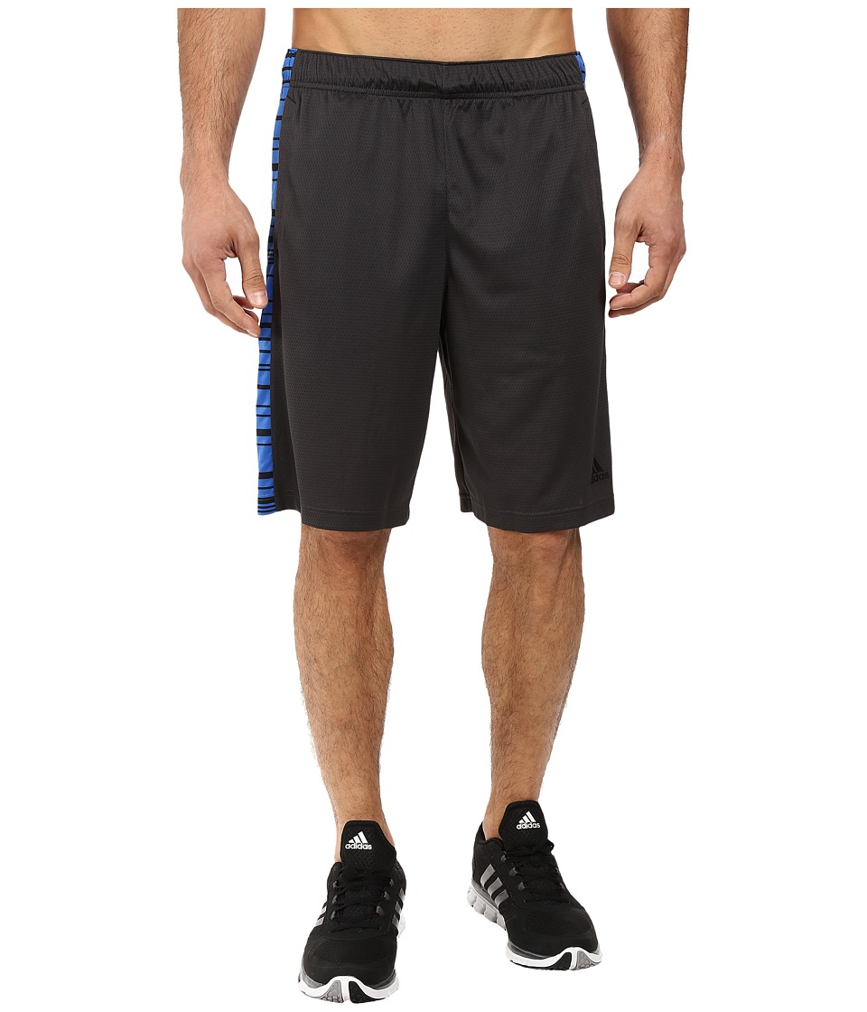 adidas - Essential 3-Stripes Shorts - Sport Glitch (Utility Black/Blue/Black) Men's Shorts