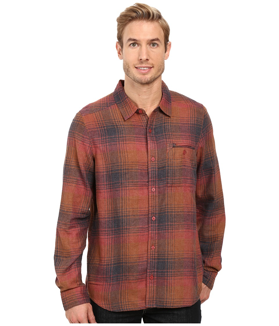 Toad&Co - Singlejack Long Sleeve Shirt (Dark Chestnut) Men's Clothing