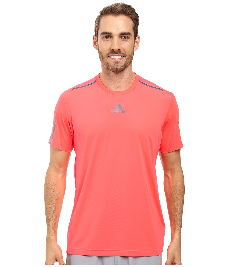 adidas - BARRICADE Tee (Flash Red/Tech Ink) Men's T Shirt