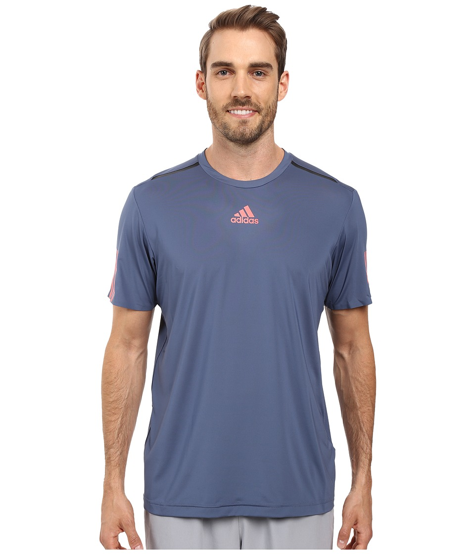 adidas - BARRICADE Tee (Tech Ink/Flash Red/Black) Men's T Shirt