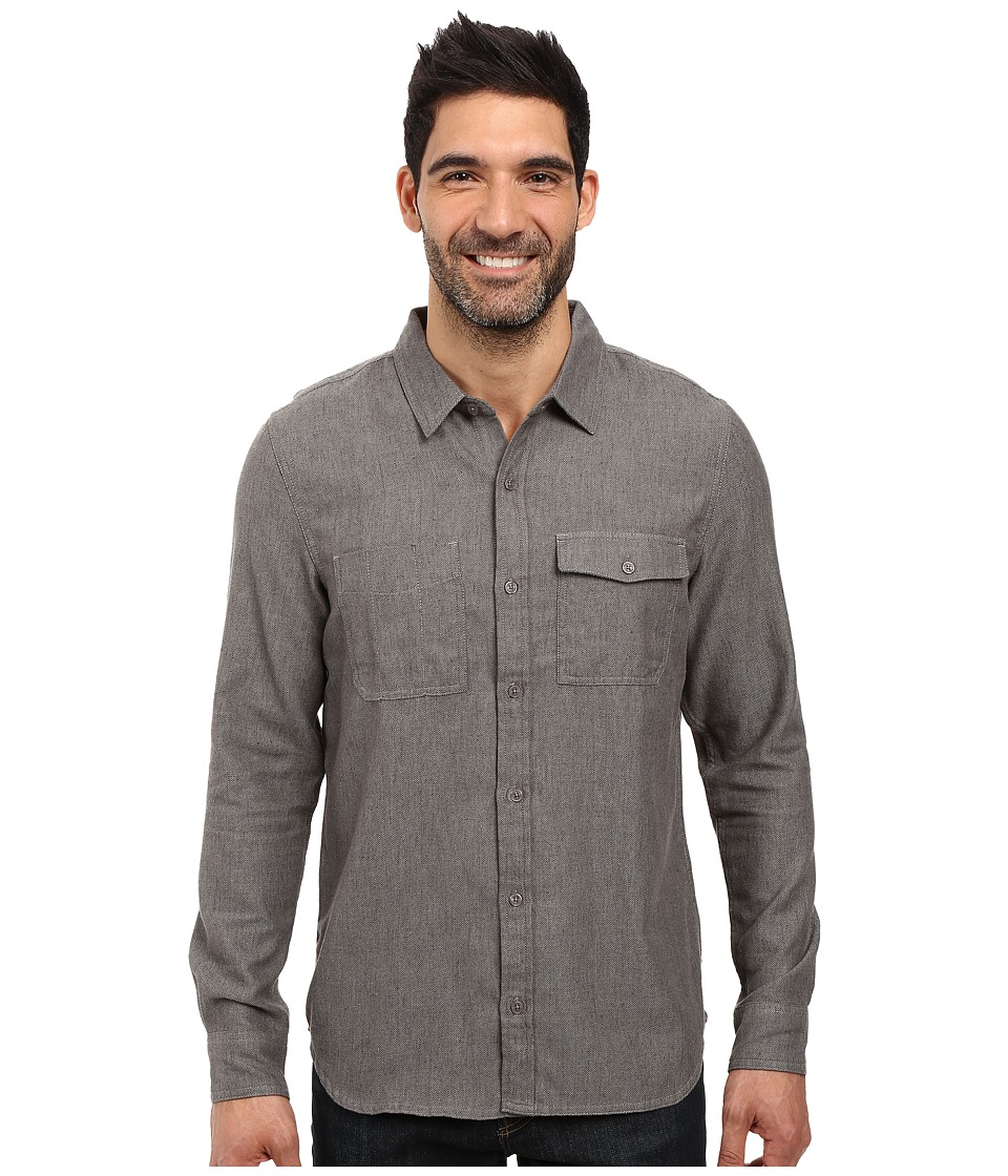 Toad&Co - Alverstone Long Sleeve Shirt (Dark Graphite) Men's Clothing
