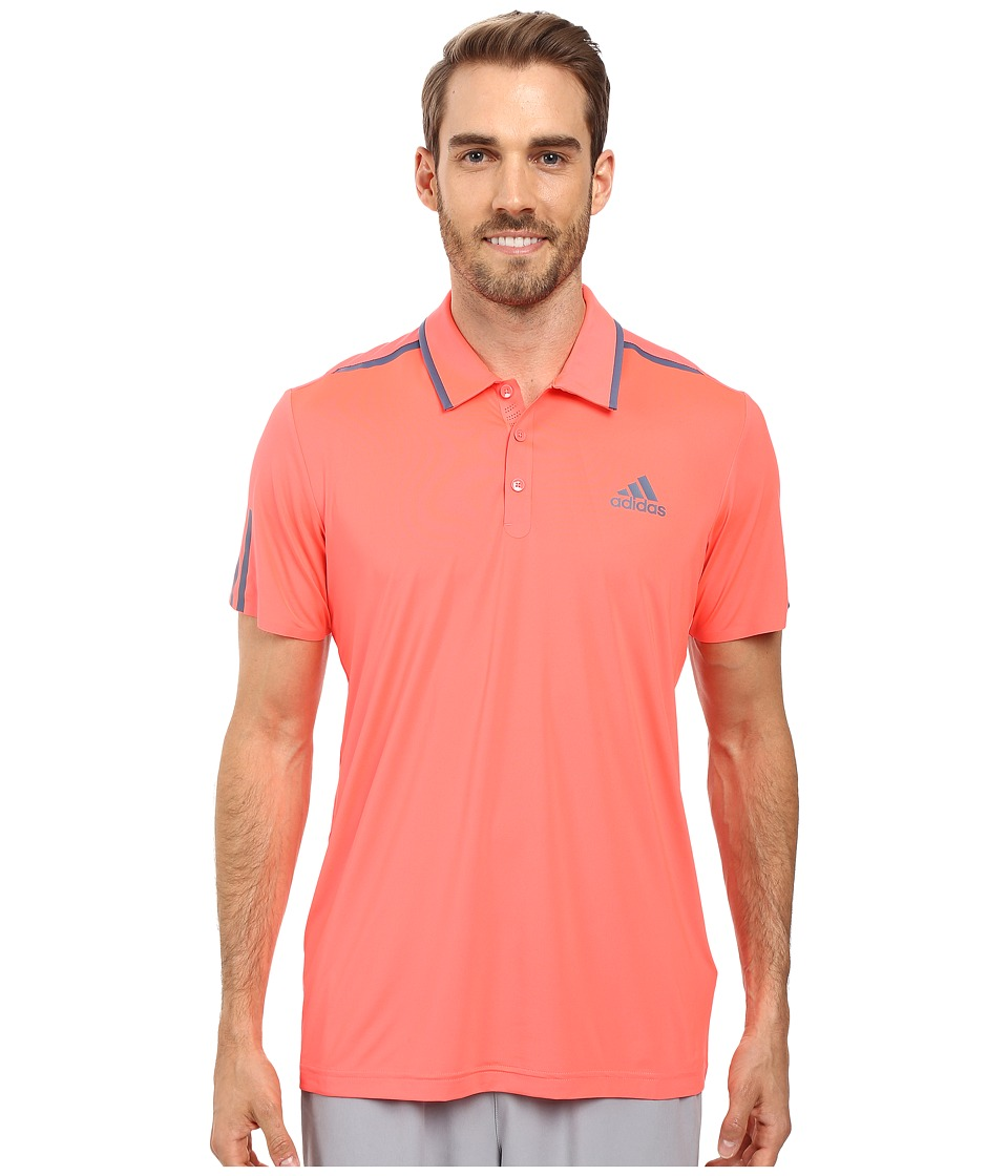 adidas - Barricade Polo (Flash Red/Tech Ink) Men's Short Sleeve Pullover