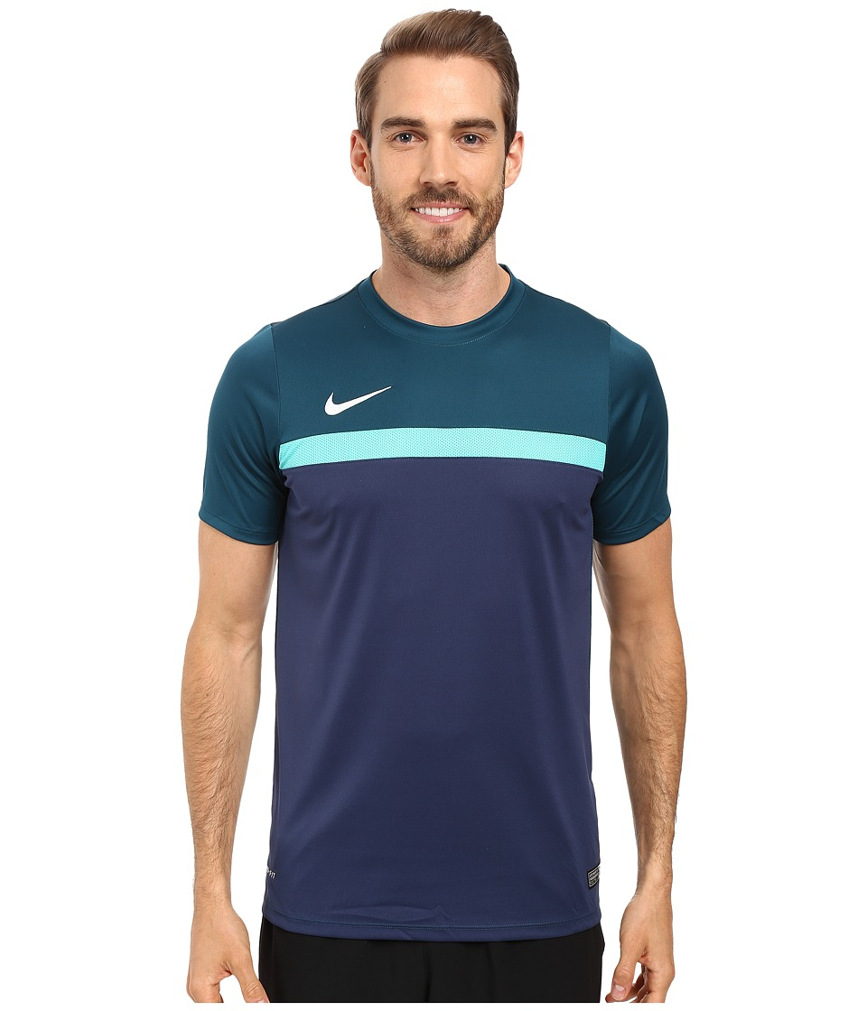 Nike - Academy S/S Training Top 1 (Midnight Turquoise/Hyper Jade/Midnight Navy/White) Men's T Shirt