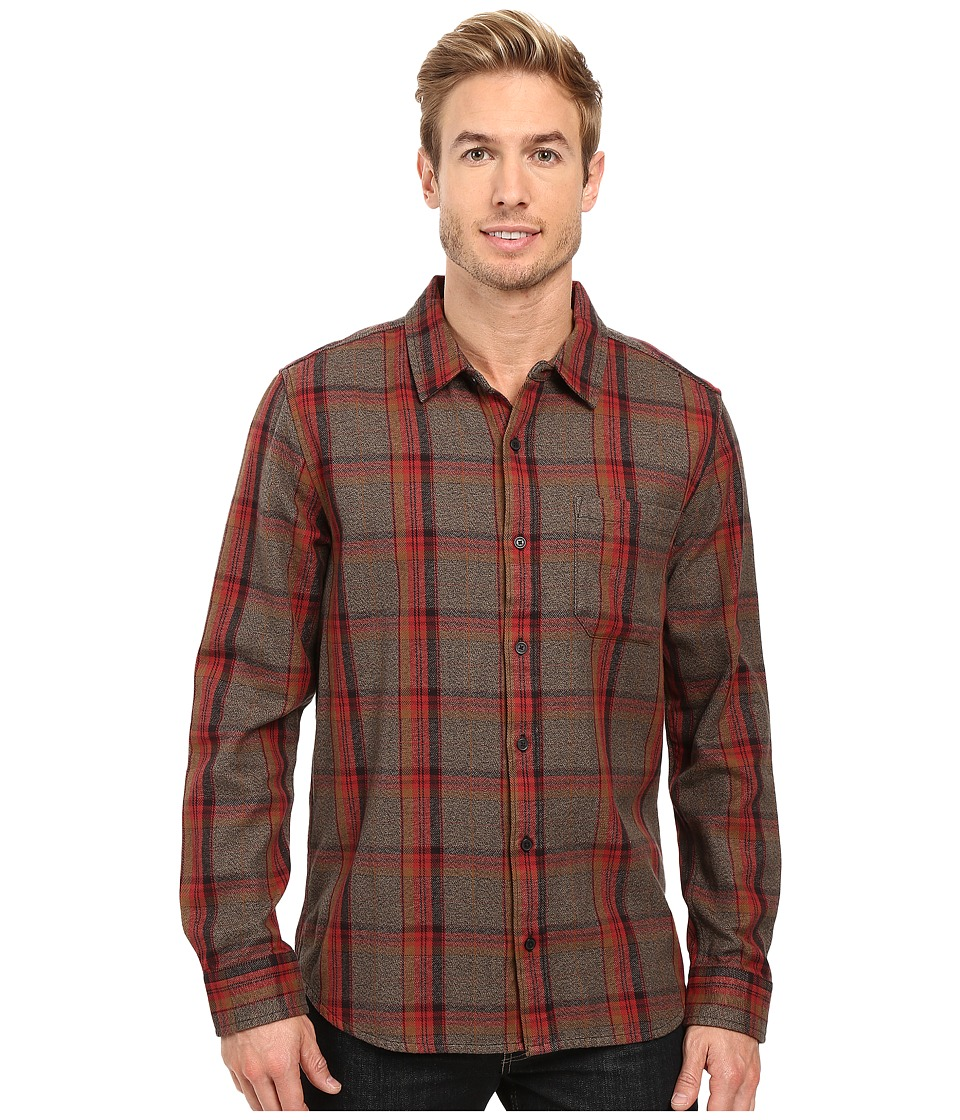 Toad&Co - Earle Long Sleeve Shirt (Dark Chestnut) Men's Long Sleeve Button Up