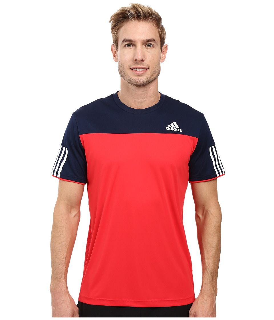 adidas - Club Tee (Ray/Red/Collegiate Navy/White) Men's T Shirt