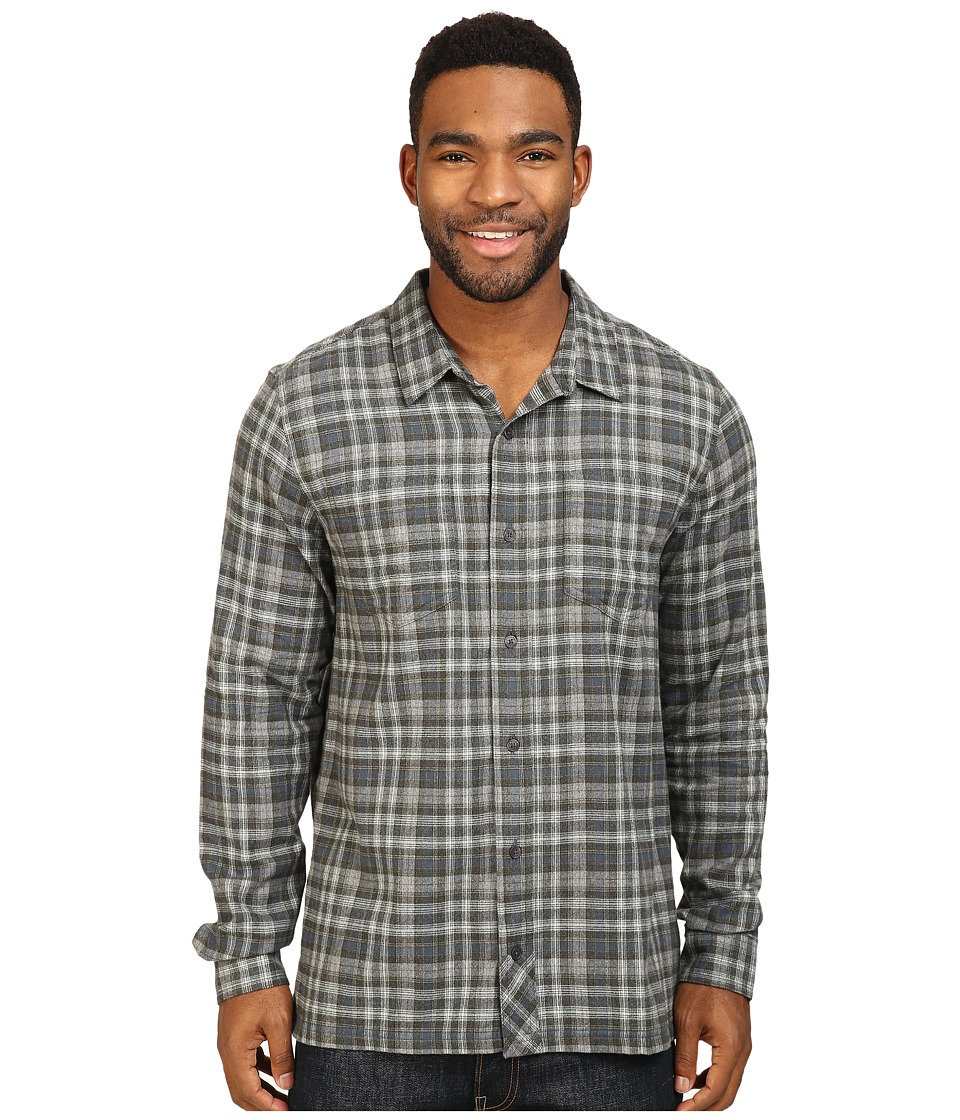 Toad&Co - Flannagan Straight Hem Long Sleeve Shirt (Dark Graphite) Men's Long Sleeve Button Up