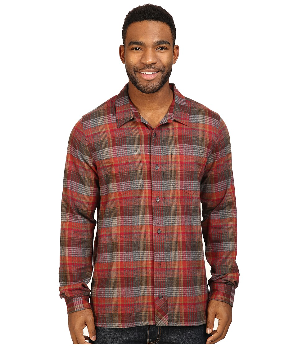 Toad&Co - Flannagan Straight Hem Long Sleeve Shirt (House Red) Men's Long Sleeve Button Up