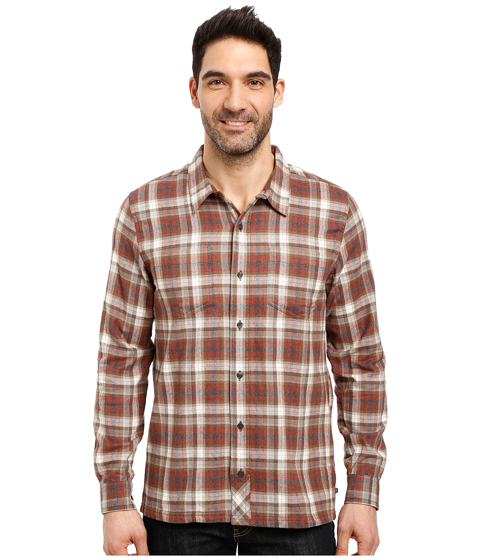 Toad&Co - Flannagan Straight Hem Long Sleeve Shirt (Dark Chestnut) Men's Long Sleeve Button Up