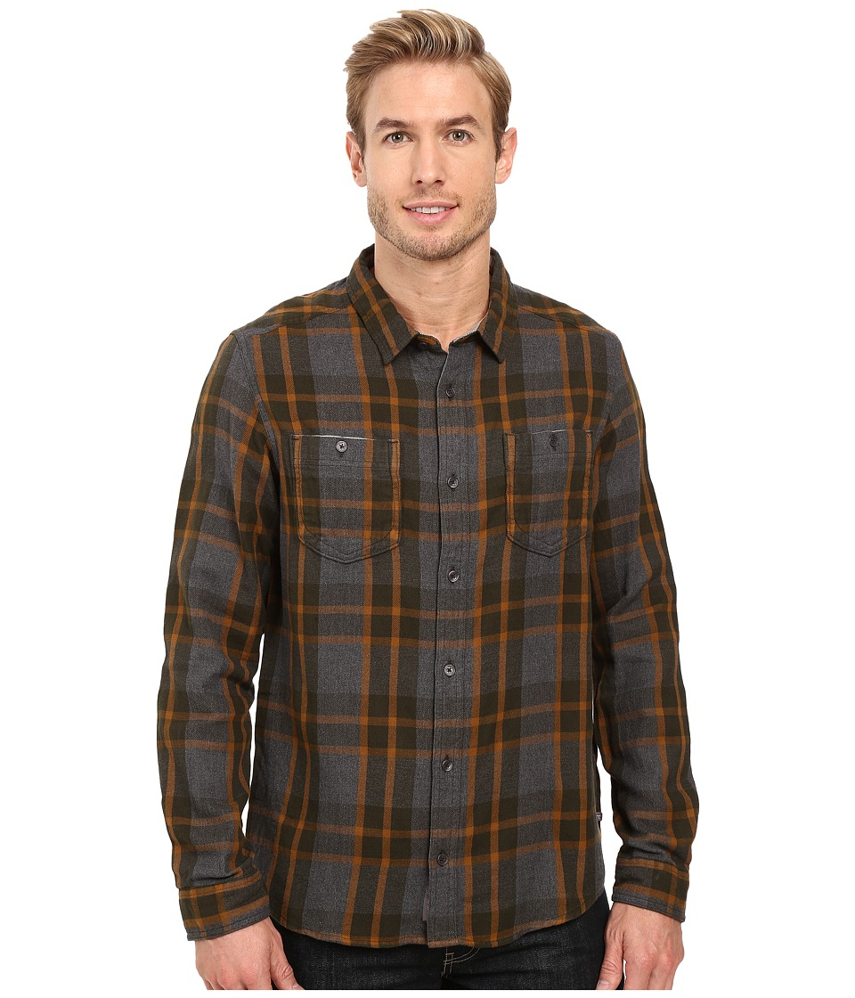 Toad&Co - Dually Long Sleeve Shirt (Black Heather) Men's Long Sleeve Button Up
