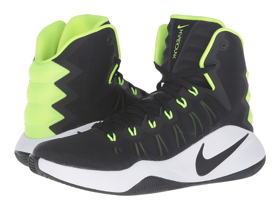 Nike - Hyperdunk 2016 (Black/Volt/Black) Men's Basketball Shoes