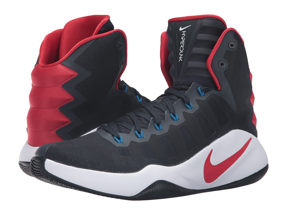 Nike - Hyperdunk 2016 (Dark Obsidian/Bright Crimson/Dark Obsidian) Men's Basketball Shoes