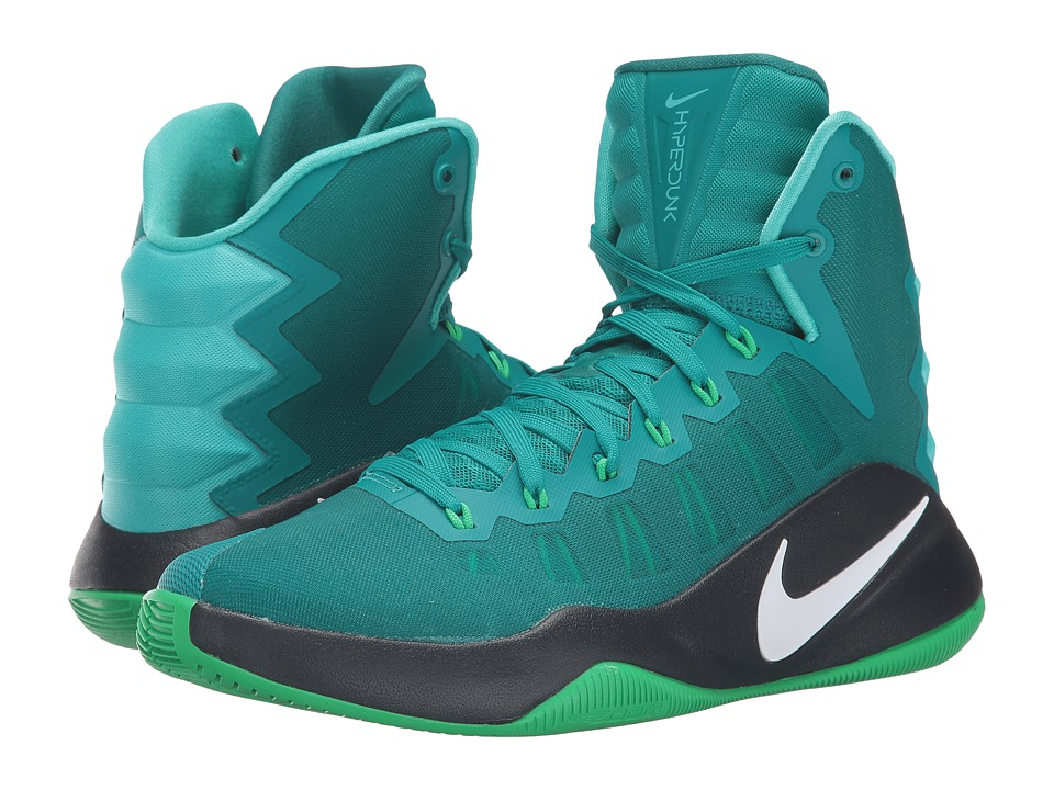 Nike - Hyperdunk 2016 (Rio Teal/Green Spark/Black/White) Men's Basketball Shoes