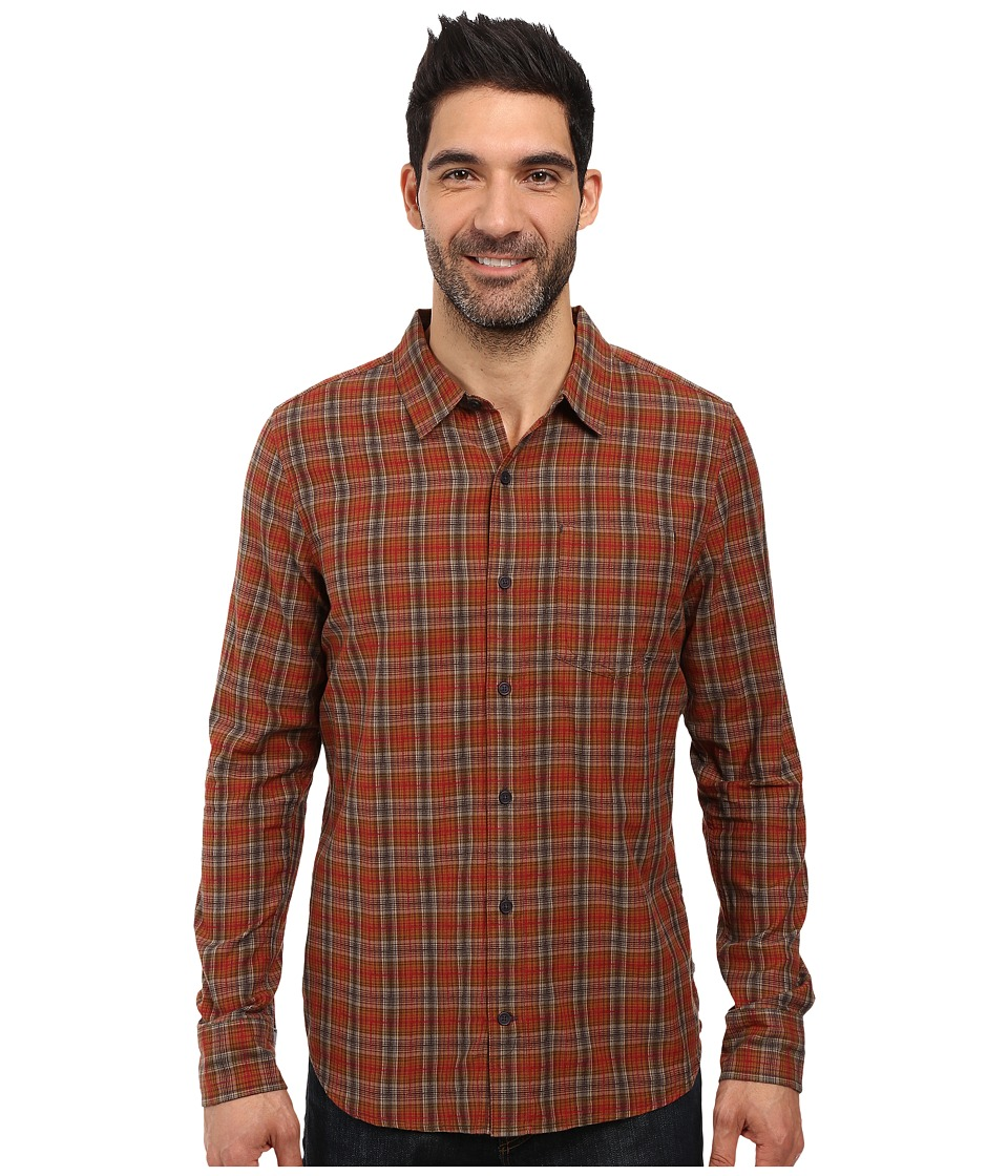 Toad&Co - Open Air Cotton Long Sleeve Shirt (Dark Chestnut) Men's Long Sleeve Button Up