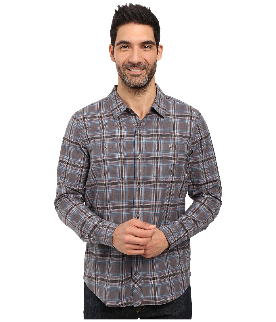 Toad&Co - Smythy Spacedye Long Sleeve Shirt (Dark Graphite) Men's Long Sleeve Button Up