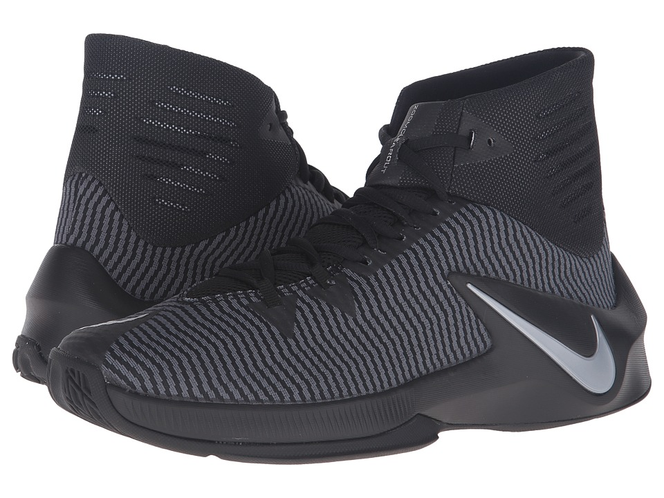 Nike - Zoom Clear Out (Black/Anthracite/Metallic Silver) Men's Basketball Shoes