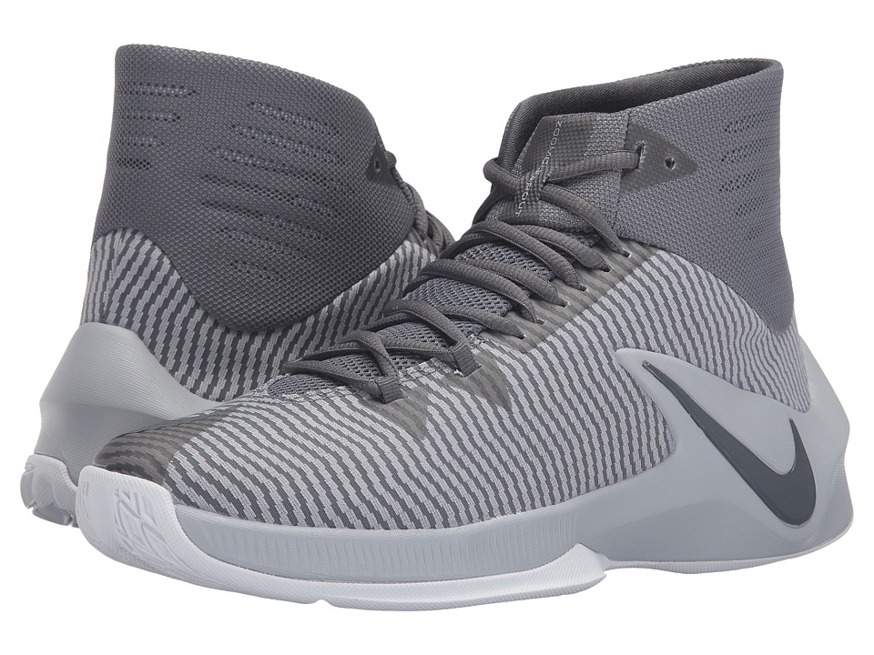 Nike - Zoom Clear Out (Cool Grey/Wolf Grey/White/Black) Men's Basketball Shoes