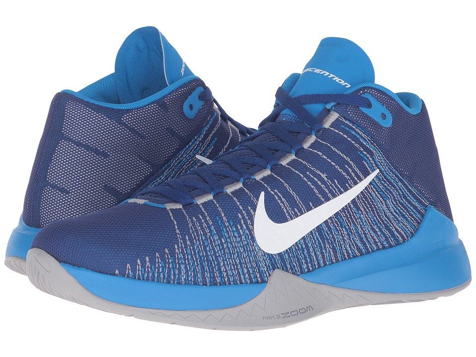 Nike - Zoom Ascention (Deep Royal Blue/Photo Blue/Wolf Grey/White) Men's Basketball Shoes