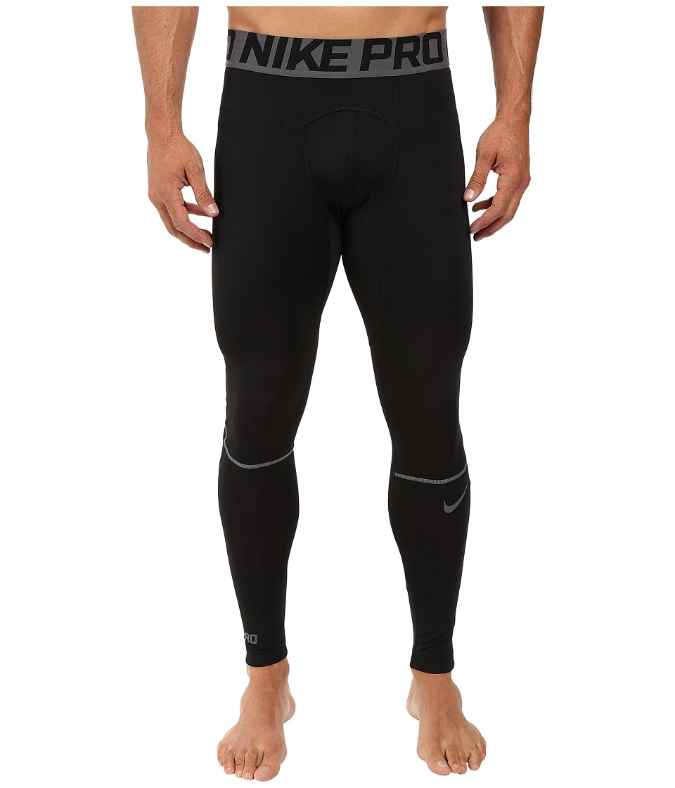 Nike - Pro Hyperwarm Training Tight (Black/Dark Grey/Dark Grey) Men's Workout
