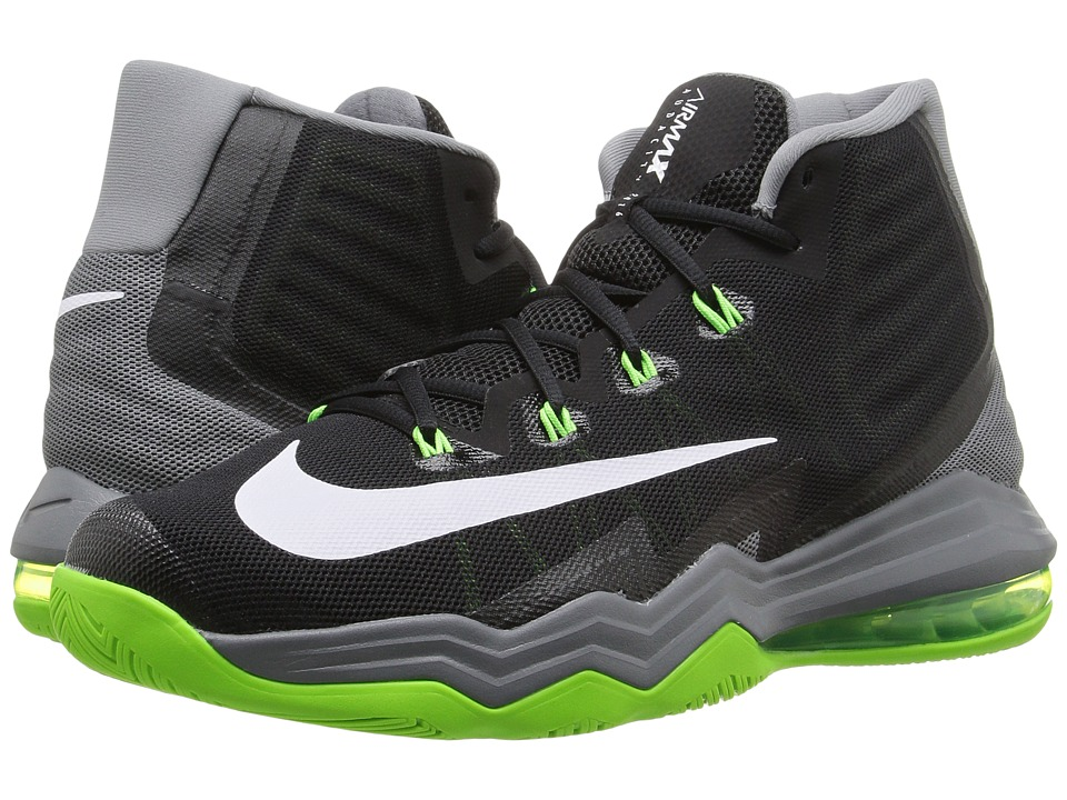Nike - Air Max Audacity II (Black/Cool Grey/Electric Green/White) Men's Basketball Shoes