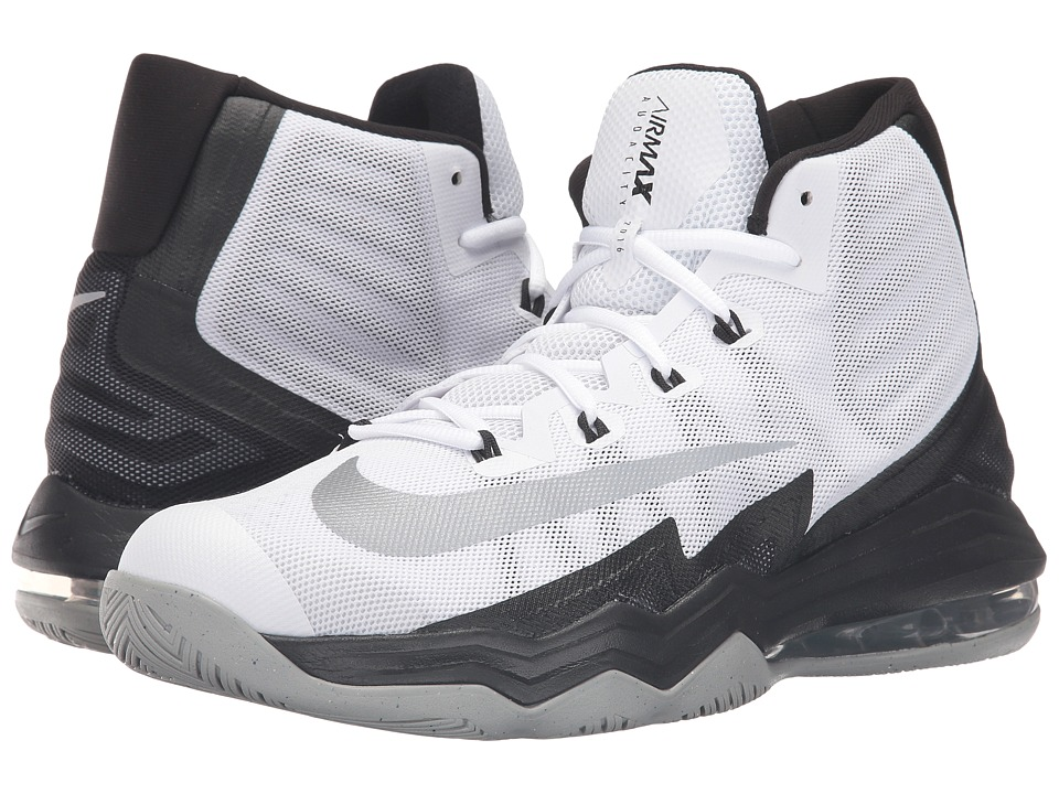 Nike - Air Max Audacity II (White/Black/Wolf Grey/Reflect Silver) Men's Basketball Shoes