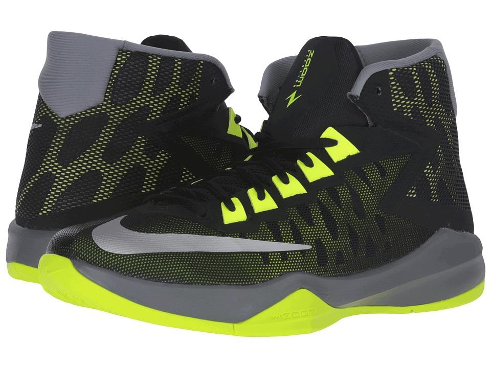 Nike - Zoom Devosion (Black/Cool Grey/Volt/Reflect Silver) Men's Basketball Shoes