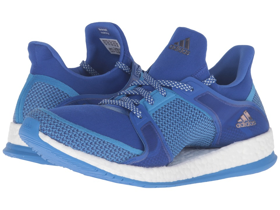 adidas - Pure Boost X TR (Bold Blue/Ray Blue/Vapour Green) Women's Cross Training Shoes