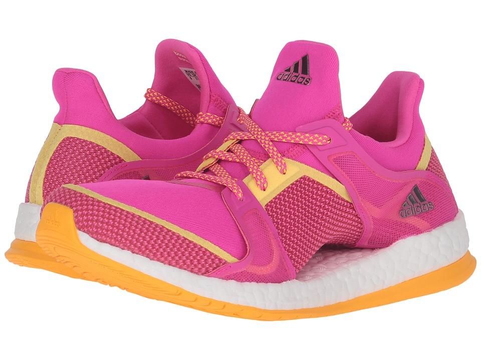 adidas - Pure Boost X TR (Shock Pink/Solar Gold/Silver Metallic) Women's Cross Training Shoes