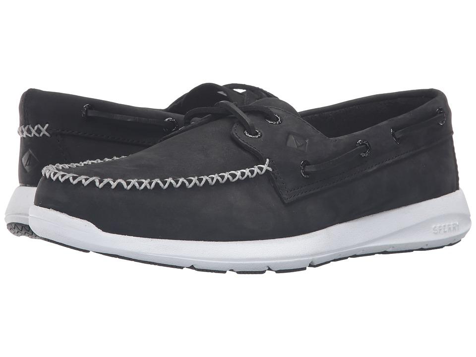 Sperry - Sojourn Nubuck (Black) Men's Lace Up Moc Toe Shoes